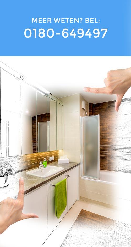 Badkamer verbouwen door de installateur uit Barendrecht
